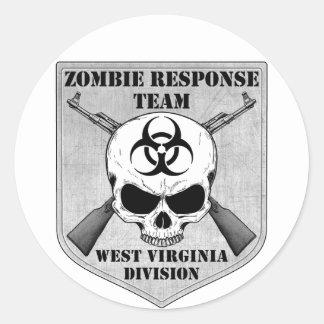 Zombie Response Team West Virginia Division Sticker