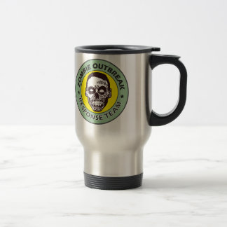 zombie response team, zombie face travel mug