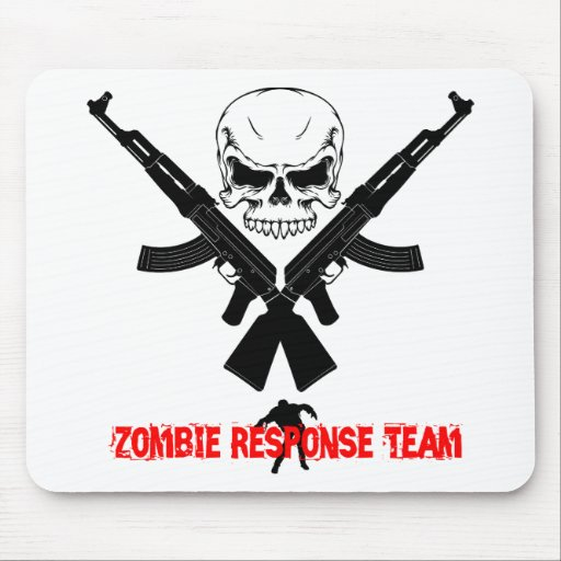 Zombie Response Team Zombie Gift Mousepads