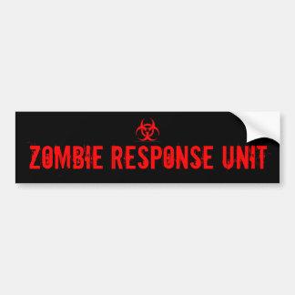 ZOMBIE RESPONSE UNIT CAR BUMPER STICKER