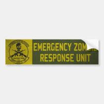 Zombie Response Unit Bumper Sticker Car Bumper Sticker