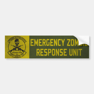 Zombie Response Unit Bumper Sticker