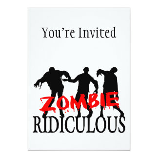 Zombie Ridiculous Card