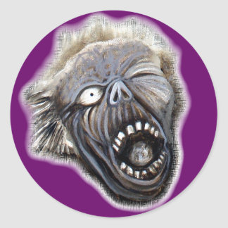 Zombie Rising Classic Round Sticker