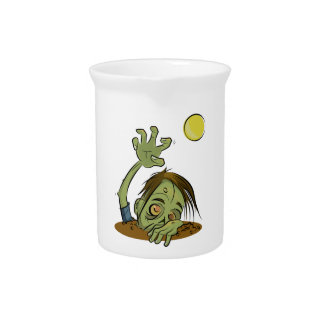 Zombie Rising Illustration by Daily Undead Drink Pitcher