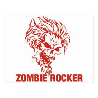 Zombie Rocker - Rock-N-Roll Postcard