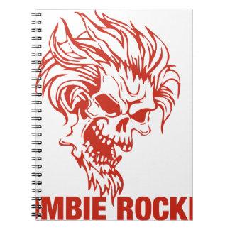 Zombie Rocker - Rock-N-Roll Spiral Notebook