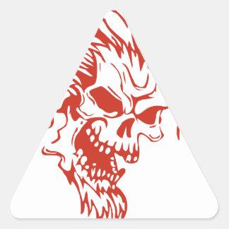 Zombie Rocker - Rock-N-Roll Triangle Sticker