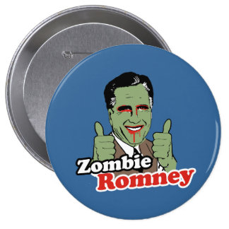 Zombie Romney.png Pinback Button