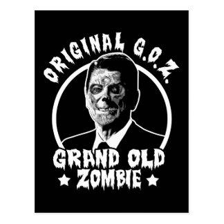 Zombie Ronald Reagan Postcard