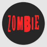 Zombie Round Stickers