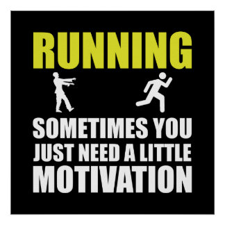 Zombie Running Motivation Poster