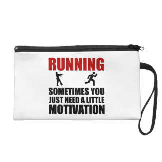 Zombie Running Motivation Wristlet Purse