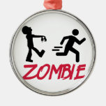 Zombie running person ornaments