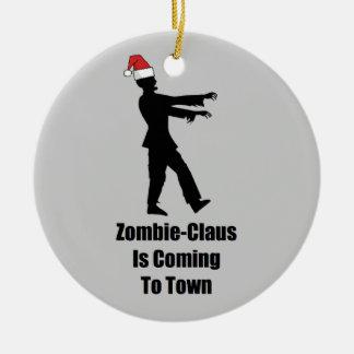 Zombie Santa Ceramic Ornament