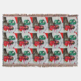 Zombie Santa Christmas blanket