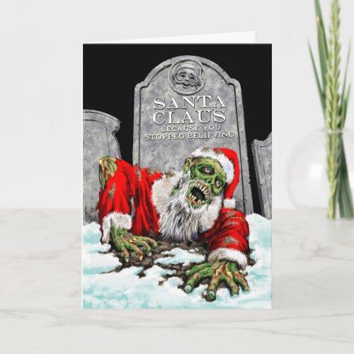 Zombie Santa Christmas Card card