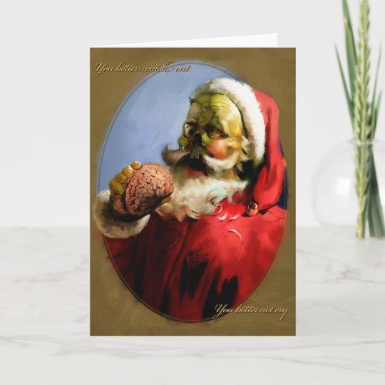Christmas Zombie Santa.Zombie Santa Christmas Card