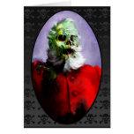Zombie Santa Christmas Card Cards