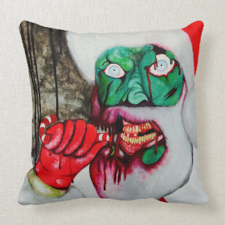Zombie Santa Christmas cushion