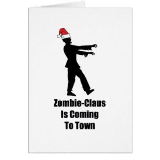Zombie Santa Claus Christmas Card