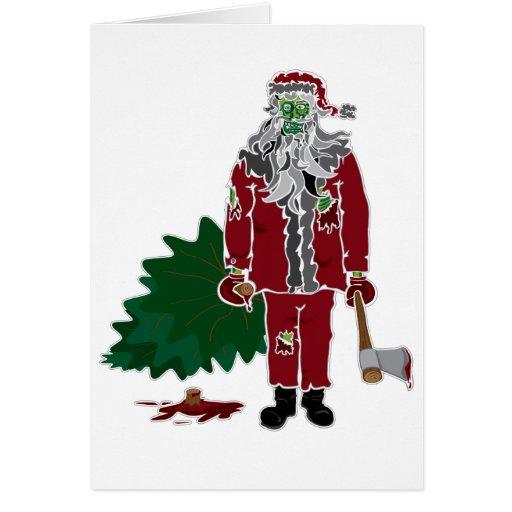 Zombie Santa Claus Greeting Card