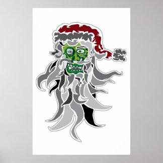 Zombie Santa Claus Poster