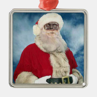 Zombie Santa Portrait ornament