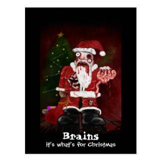 Zombie Santa Postcard
