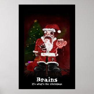 Zombie Santa Print