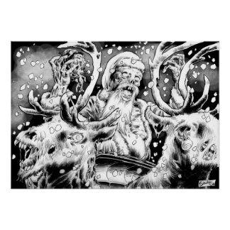 Zombie Santa Rides Out Poster