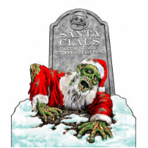Zombie Santa Sculpture