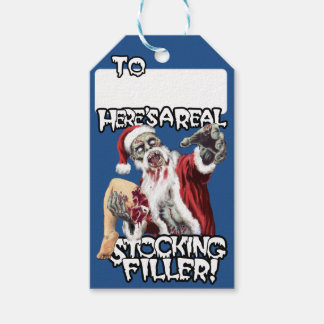 Zombie Santa Stocking Filler Pack Of Gift Tags