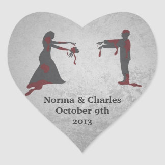 Zombie Save the Date Wedding Stickers