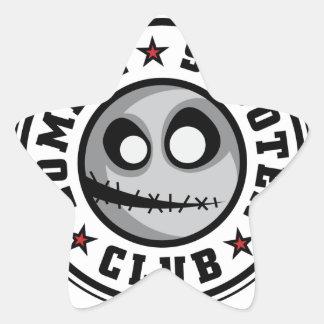 Zombie Scooter Club Star Sticker