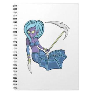 Zombie Seahorse Mermaid Spiral Notebook