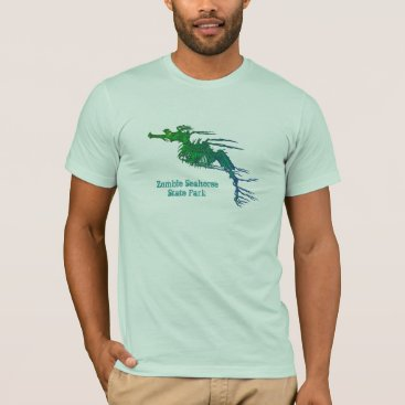 USA Themed Zombie Seahorse State Park T-Shirt