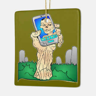 Zombie Selfie Pic Ceramic Ornament