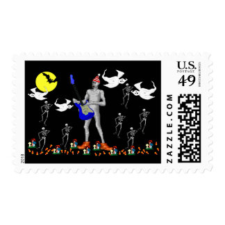 Zombie Serenade Postage Stamp