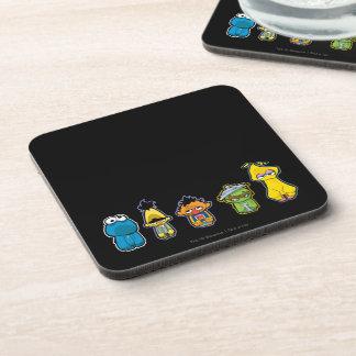 Zombie Sesame Street Characters Coaster