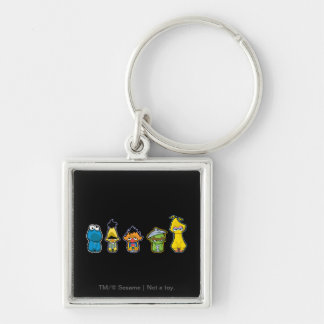 Zombie Sesame Street Characters Key Chains