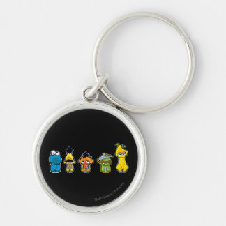 Zombie Sesame Street Characters Keychain