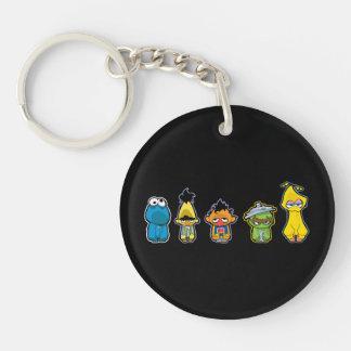 Zombie Sesame Street Characters Key Chain