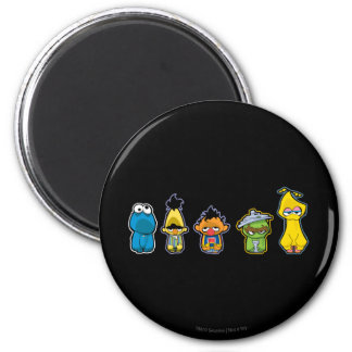 Zombie Sesame Street Characters Magnet