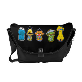 Zombie Sesame Street Characters Messenger Bag
