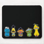 Zombie Sesame Street Characters Mouse Pad