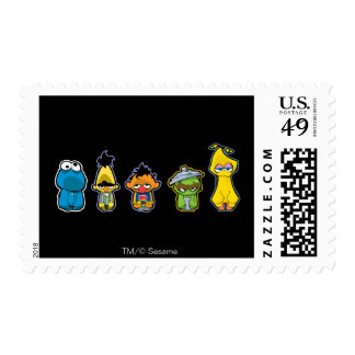 Zombie Sesame Street Characters Stamps