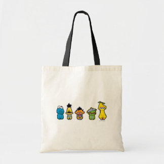 Zombie Sesame Street Characters Tote Bag