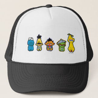 Zombie Sesame Street Characters Trucker Hat