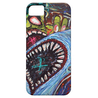 Zombie Shark Fight iPhone 5 Cases